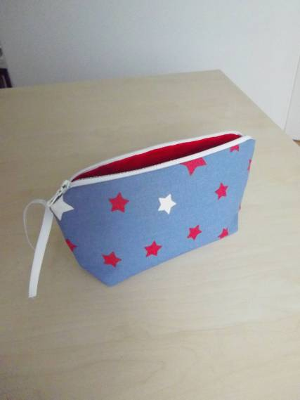 Trousse en denim
