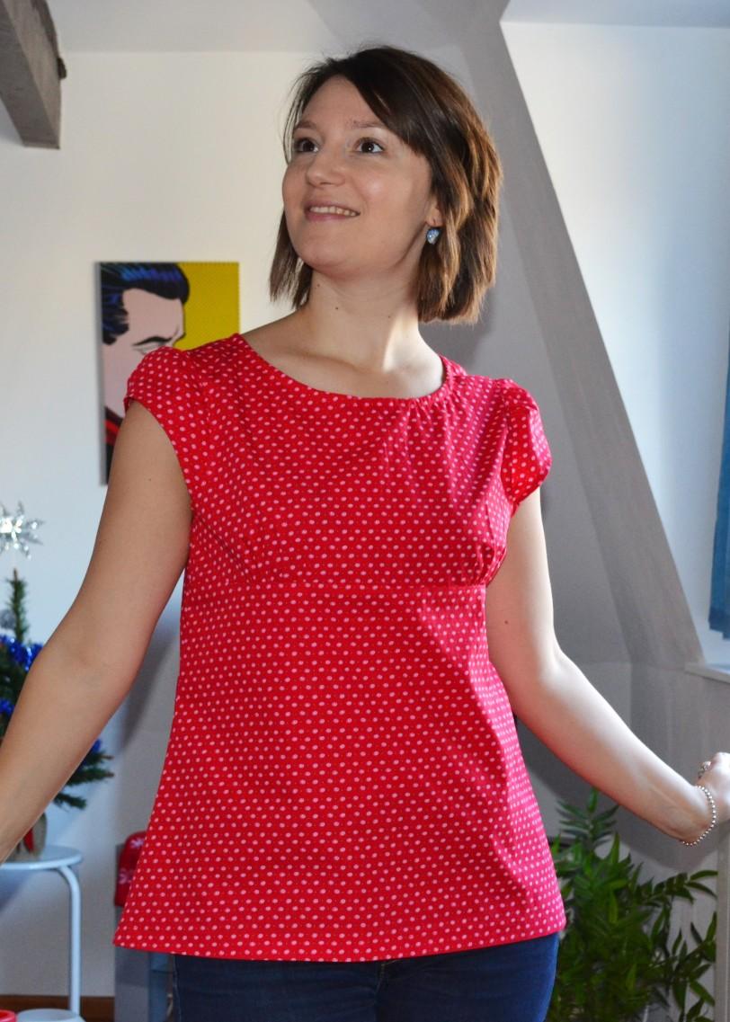 Tunique à manches ballon Hachette loisirs mes carnets de couture