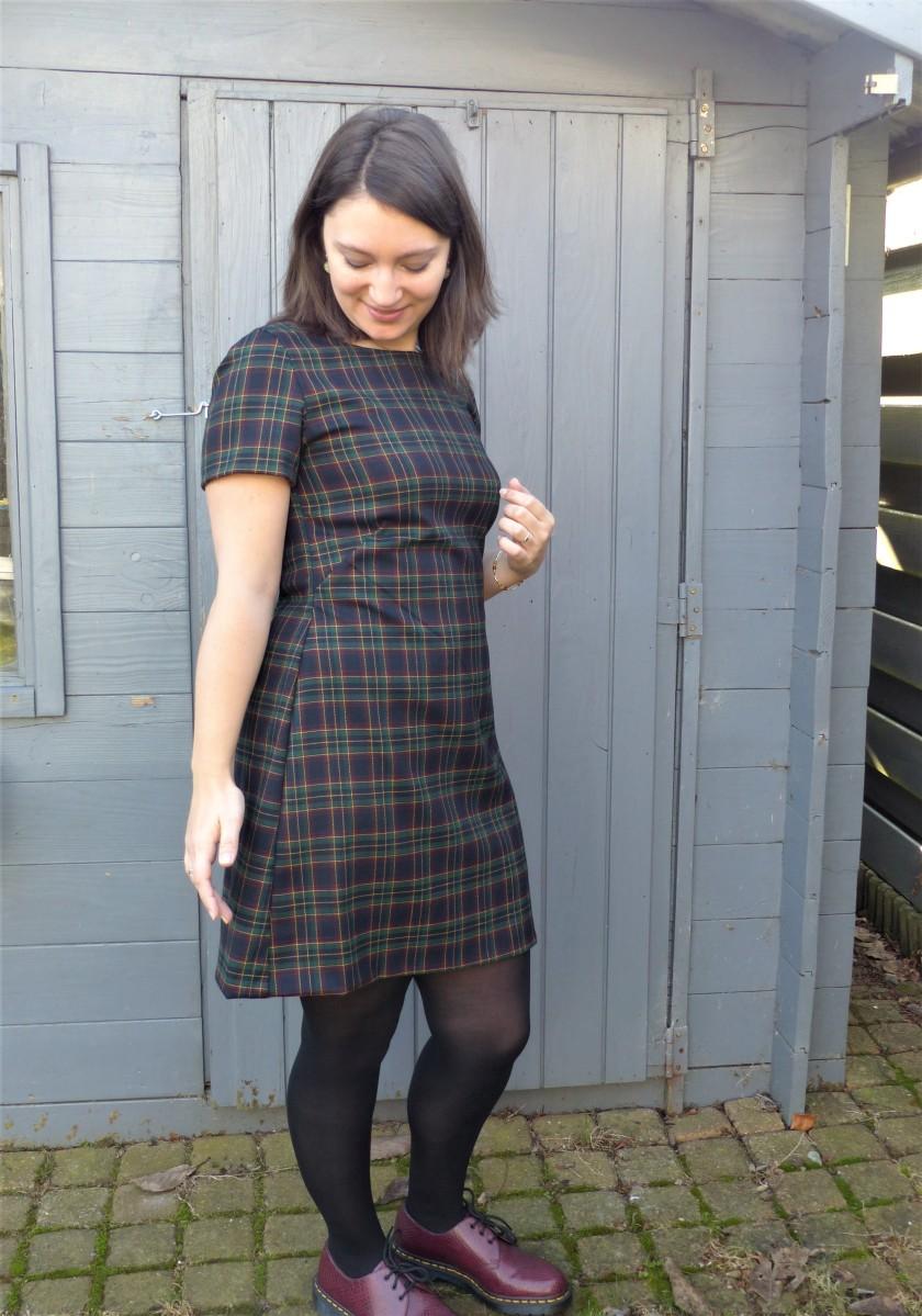 Ma robe trapèze écossaise