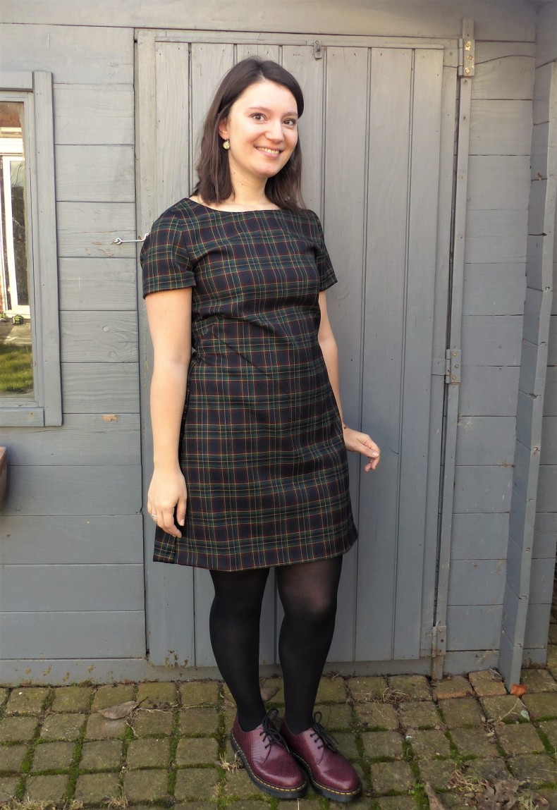 robe trapeze burda en tartan ecossais a carreaux