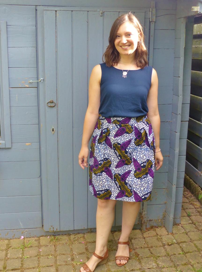 jupe plis creux charlotte auzou wax africain ma garde-robe à coudre pour toute l'annee