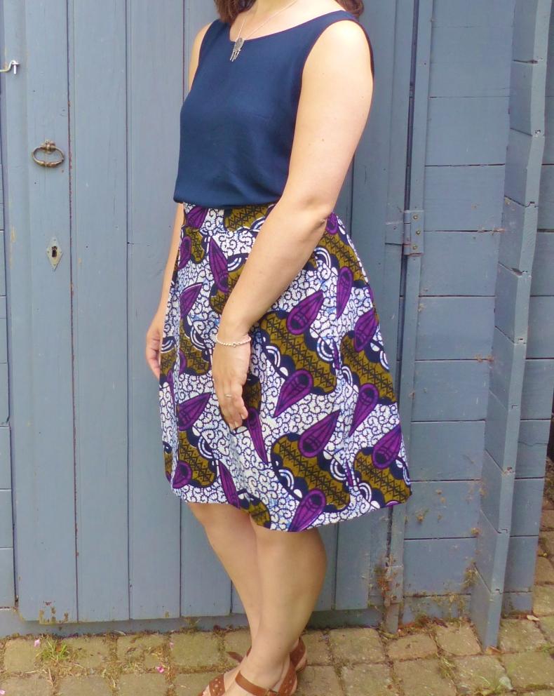 jupe plis creux charlotte auzou reveillon decembre wax africain