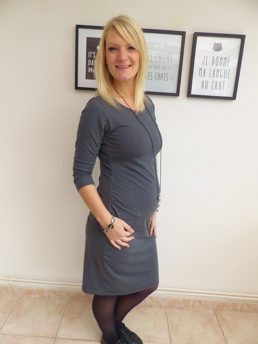 Robe de grossessegivrée
