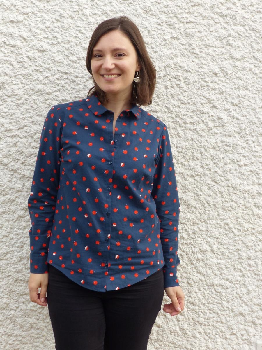 Une chemise Septembre aux pommes